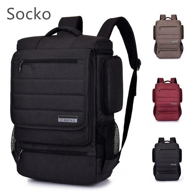 """2019 Socko מותג תרמיל תיק מחשב נייד 15 """",15.4"""",15.6 """",17"""",17.3 """"מחברת כתף תיק, נסיעות בית ספר תיק, משלוח Drop 672"""