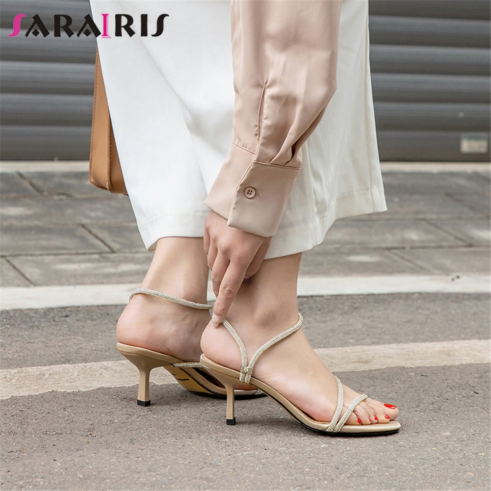 SARAIRIS High Quality 2019 Sexy Party Wedding Sandals Woman Shoes Strange Heels Slip On Elegant Shoes Woman Sandals FemaleSARAIRIS High Quality 2019 Sexy Party Wedding Sandals Woman Shoes Strange Heels Slip On Elegant Shoes Woman Sandals Female