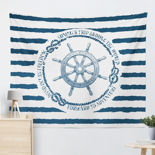 Marine Style Striped Wall Tapestry 6