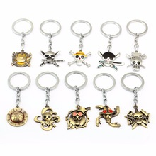 ONE PIECE Skull Keychain Car Charm Mask Key Chain Luffy Zoro Sanji Nami Key Ring Key Holder Llaveros For One Piece Fans 12013