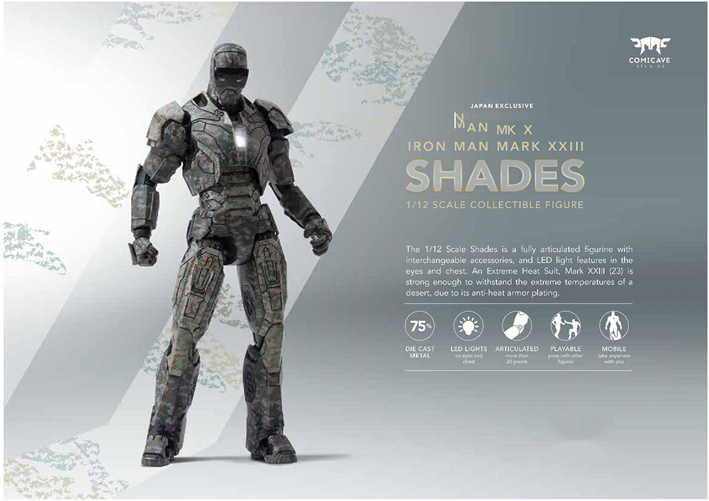 Collectible Model Toys 1 12 on Sale 15 3cm Iron Man MK23 Shades Action Figure