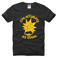 Rick And Morty 20 Accurate As Usual Printed T Shirt Men Summer Short Sleeve O Neck