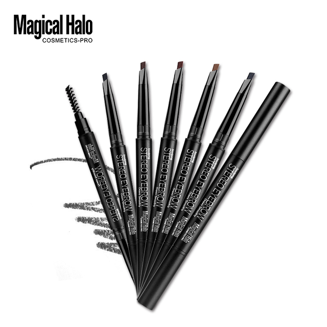 Brand Makeup High Quality 5 Color Automatic Matte Eyebrow Pencil Waterproof With Brush Tool Long-lasting Cosmetics Eye Brow Pen 2