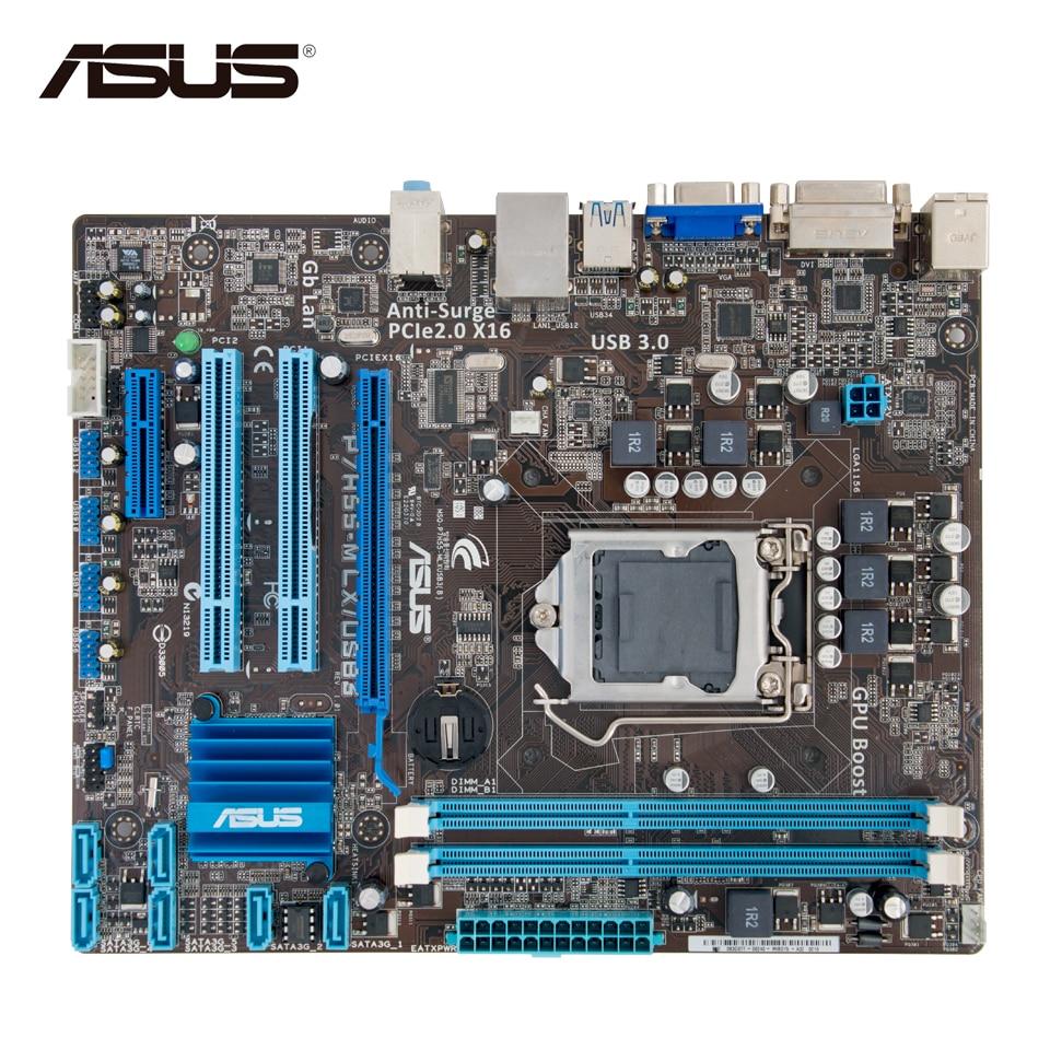 Asus P7H55-M LX/USB3 Desktop Motherboard H55 Socket LGA 1156 i3 i5 i7 DDR3 USB3.0 uATX asus p8h61 m pro cm6630 dp desktop motherboard h61 socket lga 1155 i3 i5 i7 ddr3 16g uatx