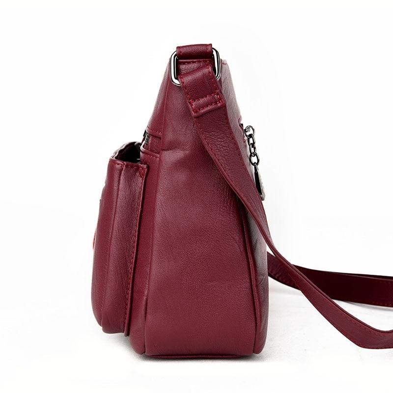 DIZHIGE Brand 2017 High Quality Sheepskin Women Messenger Bags Shoulder Genuine Leather Bags Women Double Zippers Crossbody Bags Islamabad