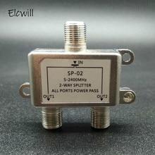 2 Ways TV Satellite Splitter 5-2500MHz Satellite TV Signal