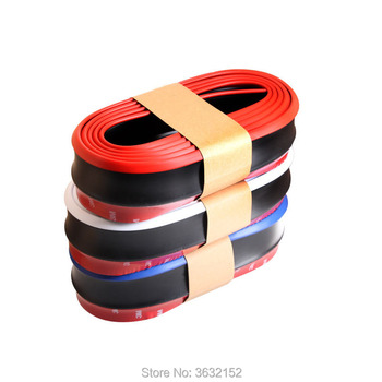 2.5m Car Front Bumper Lip Protector Car Rubber Strip Car Styling Accessories Stickers For BMW e46 e90 e39 f30 f10 e36 e60 f20 image