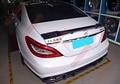 Fit für Mercedes benz W218 CLS63 AMG Renntech CLS320 300 kohlefaser heckspoiler heckflügel-in Auspuff Montage aus Kraftfahrzeuge und Motorräder bei
