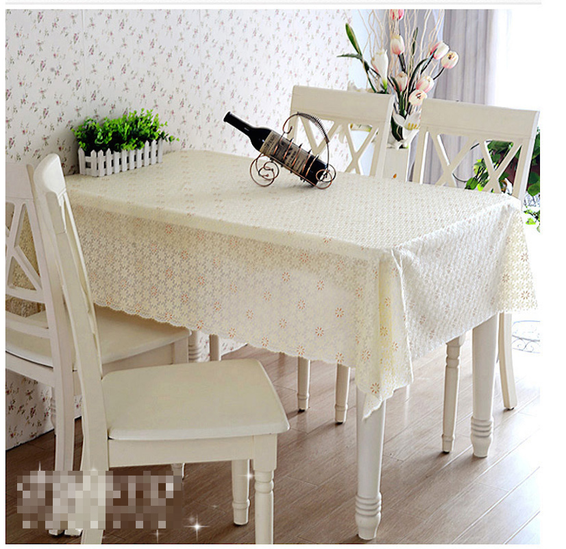 Quality PVC Tablecloth Dining Table Plastic Cover Coffee End Cloth Round Square Rectangular Waterproof Mat In Tablecloths From Home Garden On