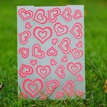 Сердце любовь пластиковый с тиснением папка для скрапбукинга DIY Фотоальбом Ремесла Подарочный шаблон