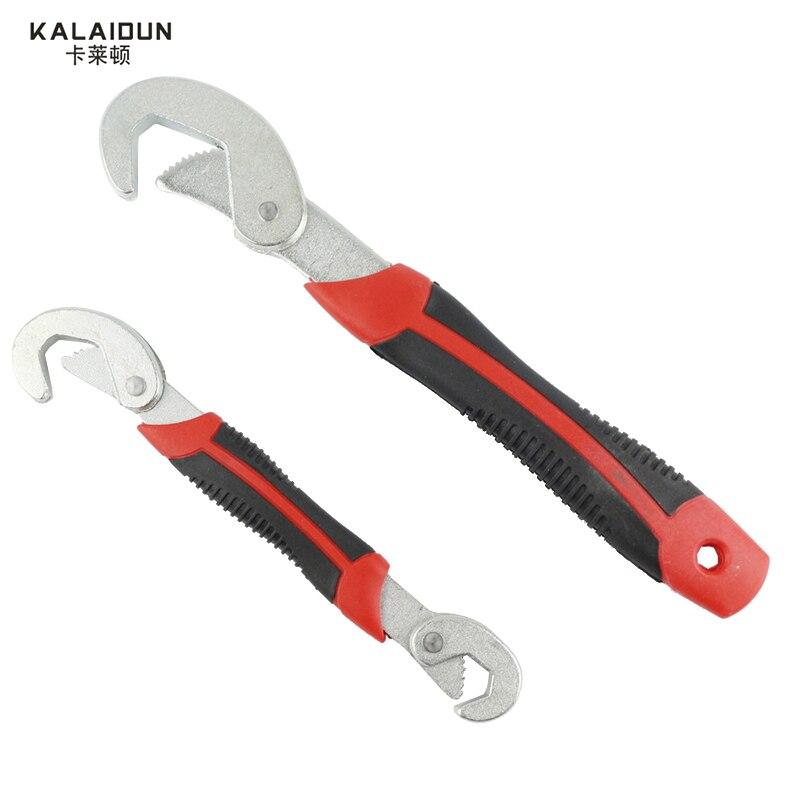 Kalaidun Multi-Функция 2 шт. универсальный ключ регулируемая ручка Установить Ключ 9-32 мм ключ-трещотка ключ ручной инструмент