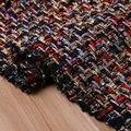 gold thread metallic tweed fabric,multy color thick braided tissus,women winter tweed coat DIY cloth,wool warm tissu au metre
