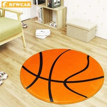 RFWCAK Round Basketball Carpets For Living Room Rugs And Home Kids Mat Decoration