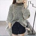 Otoño Invierno Suéter de Las Mujeres Suéteres flojos Ocasionales Cremallera Suéter Jumper Sweaters Invierno Femme Modo