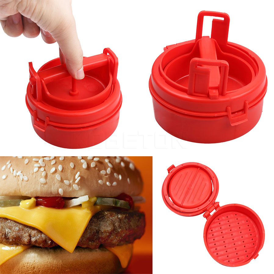 New Arrival Hamburger Maker Mold Sliders Plastic Stuffed Burger Press Meat  Press Cookware Kitchen Dining Bar