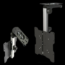 F1440 Aluminum Foldable 17 37 inch TV Ceiling  Mount Bracket LED LCD TV Hang on Uneven Inclined Roof Cabinet Wall Mount Rack