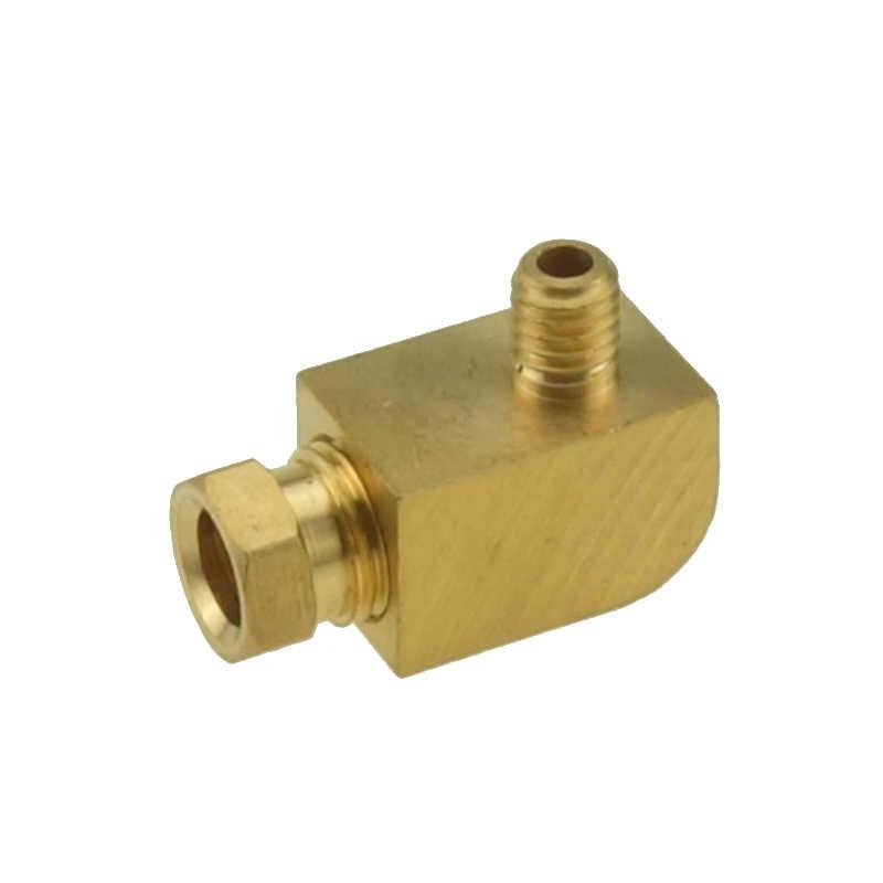 4 6 8mm OD หลอดทองเหลืองการบีบอัด Ferrule การบีบอัดข้อต่อชายขั้วต่อข้อศอกเครื่องมือหล่อลื่นน้ำมันท่อ