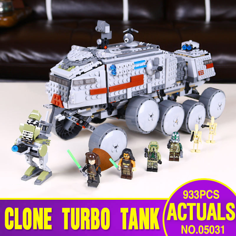 Ship From Spain DHL 05031 Star series Wars The 75151 Clone Turbo Tank Building Blocks Kids Toys model as Childen Christmas Gift(China)