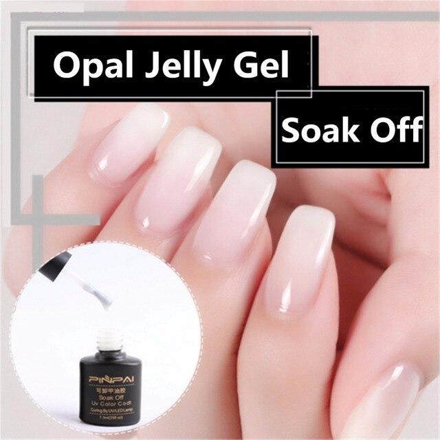 1 Bottle 7ml Opal Jelly Gel White Soak Off Manicure Nail Art UV Gel ...
