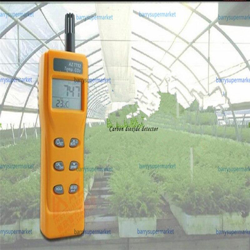 AZ7752 CO2 сенсор газоанализатор монитор на диоксидном углероде CO2 детектор газа air quality мониторы с температура измерения