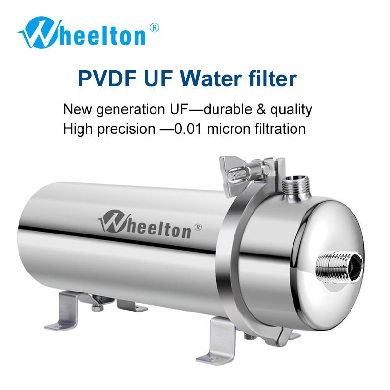 Wheelton 304 In Acciaio Inox Acqua Filtro PVDF Ultrafiltrazione Purificatore, 1000L, Commerciale Cucina di Casa Bere Direttamente UF Filtri