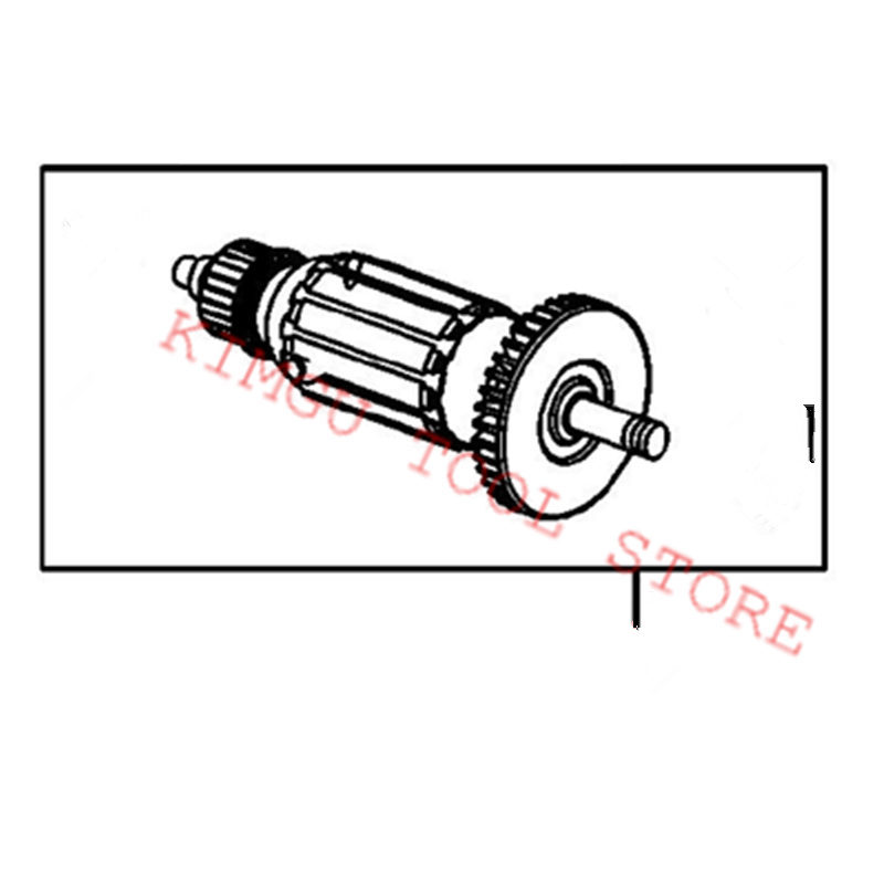 ARMATURE 220V Rotor 518143-9 Replace For Makita 6905B сетевой гайковерт makita 6905b