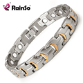 "Free Shipping Fashion Jewelry Healing Magnetic Bracelet Titanium 8.5"" Magnetic Titanium Bracelet OTB-738SG"