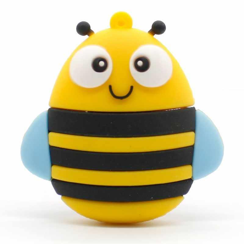 Флешка Bee usb, ручка в форме пингвина, флешка с изображением лисы, красная сова, 4 ГБ, 8 ГБ, 16 ГБ, 32 ГБ, 128 ГБ, флешка, 64 ГБ, ключ память usb