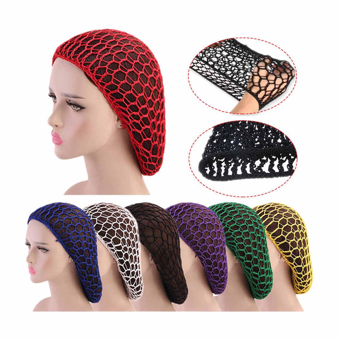 Purple Hair Net Bands Soft Elastic Lines Snood Cover Rayon Net Hair Net Hair Accessories  Sleeping Crochet Hairnet