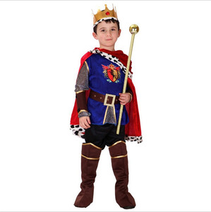 Image 3 - ハロウィンコスプレ子供王子衣装子供のための王衣装クリスマス男の子ファンタジアヨーロッパロイヤリティ服