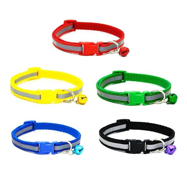 Colorful Pet Collari Collana Lucido Riflettente di Sicurezza Fibbia Collare Con