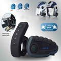 Motorcycle Helmet Headsets Bluetooth V3.0 Intercom Multi 6 Riders Interphone Kits for Motorcyclist Skiers US/EU Plug V8 1200M