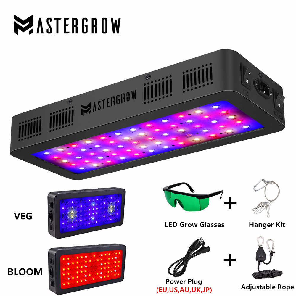 Double Switch 600W 900W 1200W Full Spectrum LED Grow Light dengan Sayuran/Bloom Mode untuk Indoor rumah Kaca Tumbuh Tenda Tanaman Tumbuh LED