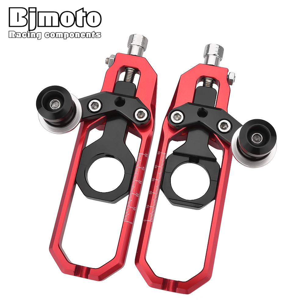 Bjmoto CNC Chain Adjusters Tensioners Catena with Spools For Suzuki GSXR 1000 GSXR1000 K9 2009 2010 2011 2012 2013 2014 2015 chain adjusters tensioners with spool fit for honda cbr600rr cbr600 rr 2007 2008 2009 2010 2011 2012 motorcycle