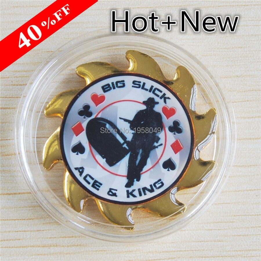 Metal for Pressing Poker Cards Guard Protector big slick  Poker Chips Souvenir Coins.20pcs/lot Free shipping