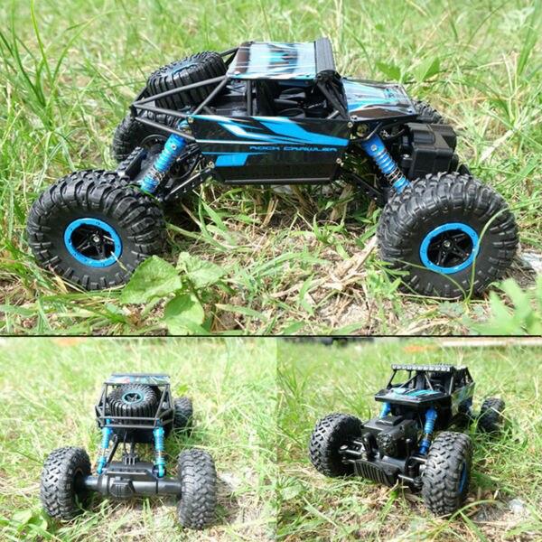 Новый Горячий Супер Мини Пульт Дистанционного Управления Автомобиль Игрушки Для Детей 1/18 2.4 Г 4WD Rock Crawler RC Car Toys Подарок Цвет Отправить на случайная
