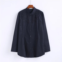 Chemise Femme Women Blouses Blusas Femininas 2017 Camisas Ladies Tops Flowers Embroidery Blouse Plus Size XXXL