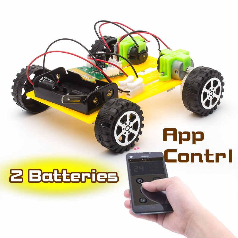DIY Plastic Model Kit Mobile Phone Remote Control Toy Set Kids Physics  Science Experiment Assembled rc cars radio control