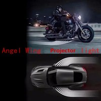 Newest 12 24V LED Welcome Ghost Shadow Angel Wing Projector Light Universal All Car