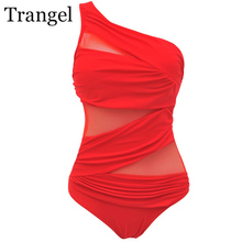 Trangel 2019 Swimsuit One Piece Plus Size Swimsuit Female Swimwear Women Solid Swimwear Swimming Suit For Woman Large Size недорго, оригинальная цена