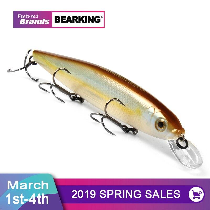 Bearking 13 cm 25g Wolfram kugeln lange guss Neue modell angeln lockt harten köder dive 1,3-2 m qualität professionelle minnow