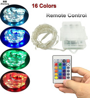 Battery Led String Light RGB 3*AA Battery Operated Garland Outdoor Indoor Home Christmas Decor Light Led Strip withcontroller