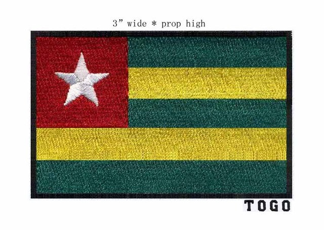 Togo 100 Embroidery Flag Patch 3 Wide Badge Patch Felt Rectangle