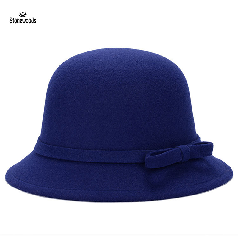 Ladies Dress Hats For Women Full Winter Gothic Top Hats For Women Elegant Wool Fashion Bowknot