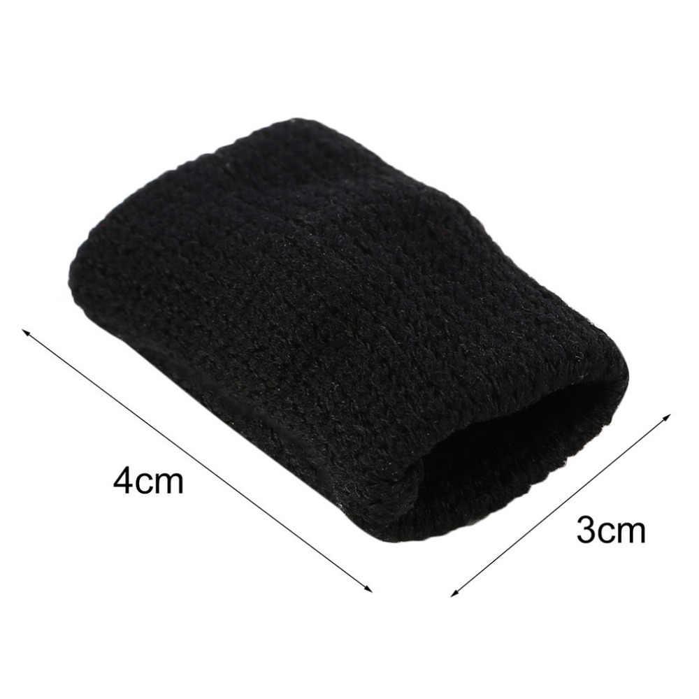 1 sztuk koszykówka siatkówka sport palec naręcza z dzianiny stawy palców poślizgu elastyczna Fingerstall czapki podkładka ochronna czarny nowy