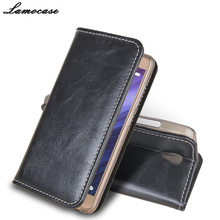 Lamocase для Lenovo A5000 случае роскошный кожаный чехол для Lenovo A5000 5000 откидная крышка с кошелек слот