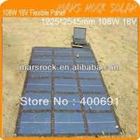 108 W 18 V portátil versão militar e Buckle Whole Design flexível carregador de painel Solar para notebook, Do telefone móvel, Mp4, Mp3