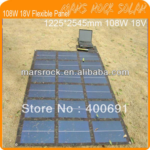 108W 18V Portable Military Version and Buckle Whole Design Flexible Solar Panel Charger for Notebook, Mobile phone, MP4, MP3