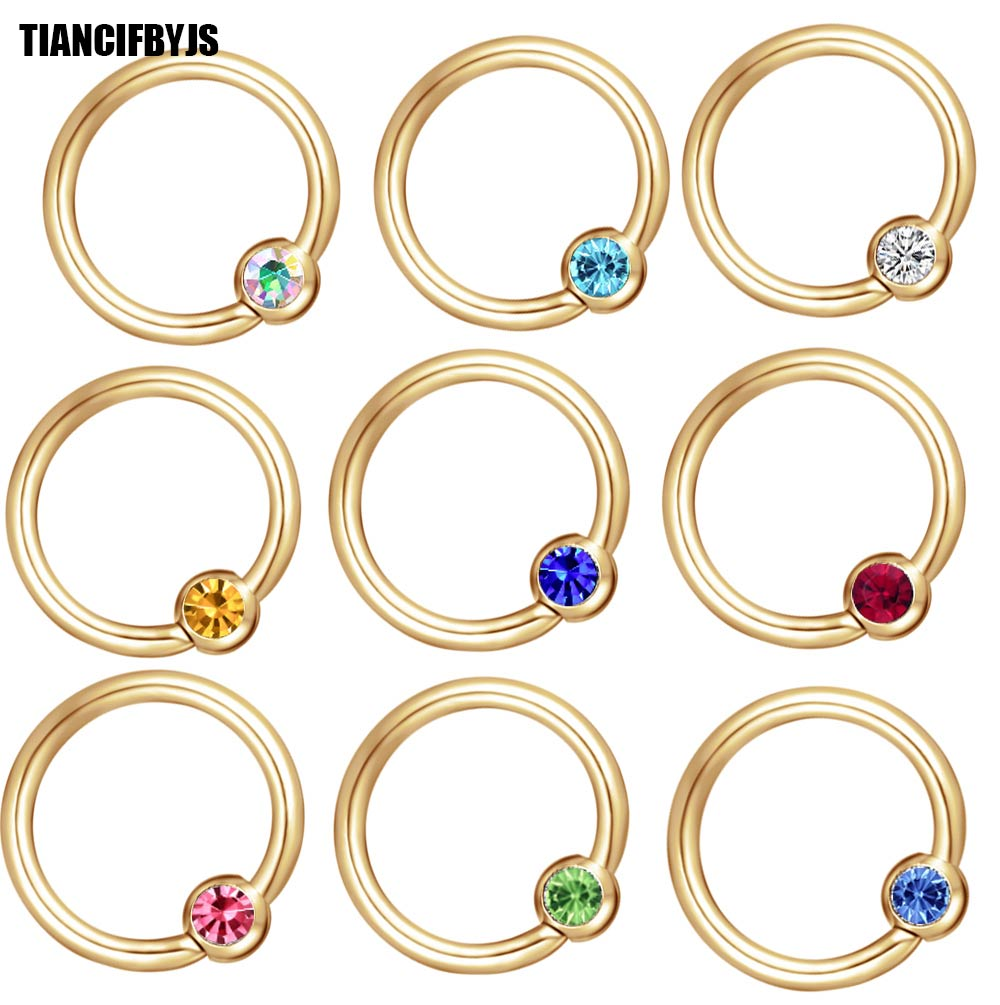 Jewelry & Accessories Jewelry Sets & More Lip Nose Ear Tragus Septum Ring 10 Color 100pcs Wholesales Piercing Body Good Reputation Over The World Knowledgeable Tiancifbyjs Gold Crystal Ball Closure Captive Ring Bcr