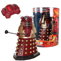 Doctor Who TARDIS Model Red Dalek Statue Remote Control Robot Craftwork PVC Action Figure Collection Model Toy L2470